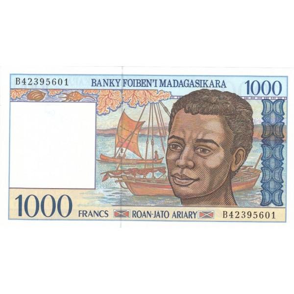 1994 - Madagascar pic 76 billete de 1000 Francos =200 Ariary