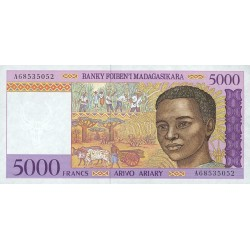 1995 -  Madagascar Pic 78a  5000 Francs =1000 Ariary banknote