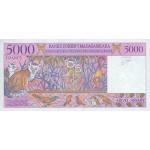 1995 -  Madagascar Pic 78a  5000 Francs =1000 Ariary banknote