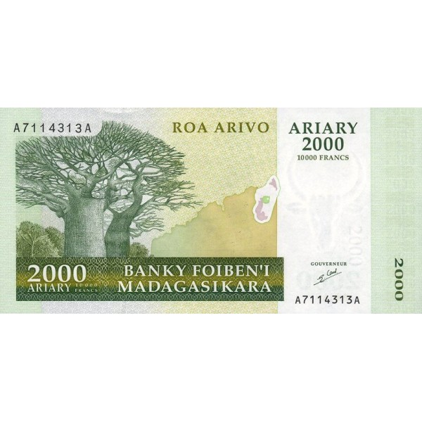 1998 - Madagascar pic 82 billete de 25000 Francos