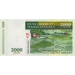 1998 -  Madagascar Pic 82  25000 Francs  banknote