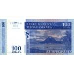 2004 - Madagascar pic 86 billete de 100 Ariary =500 Francos