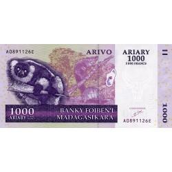 2004 -  Madagascar Pic 89 1000 Ariary =5000 Francs banknote
