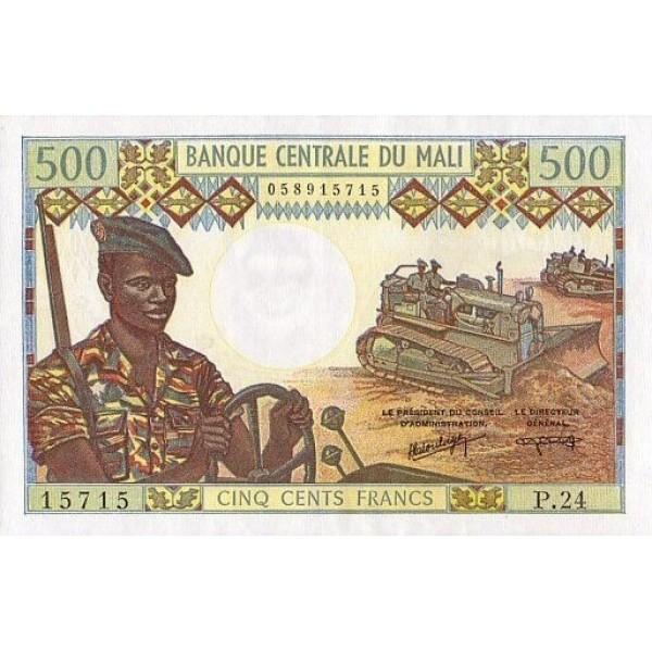 1984 - Malí pic 12f billete de 500 Francos
