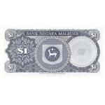1981 - Malasia  Pic 13b  billete de 1 Ringgit