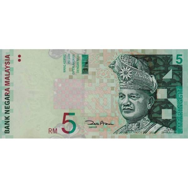 2001 Malasia  Pic 41b  billete de 5 Ringgit