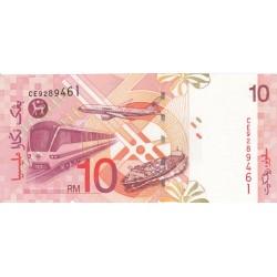 1999 - Malaysia  Pic 42b   10 Ringgit banknote
