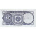 1972 - Malasia  Pic 7 billete de 1 Ringgit