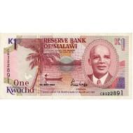 1992 - Malawi PIC 23 b     1 Kwacha banknote