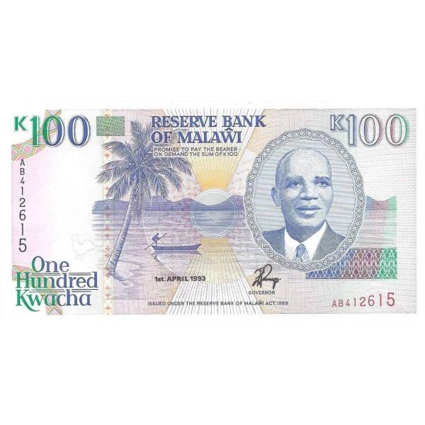 1993 - Malawi pic 29a billete de 100 Kwacha