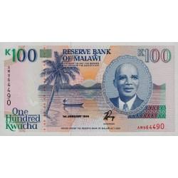 1994 - Malawi PIC 29b   100 Kwacha banknote