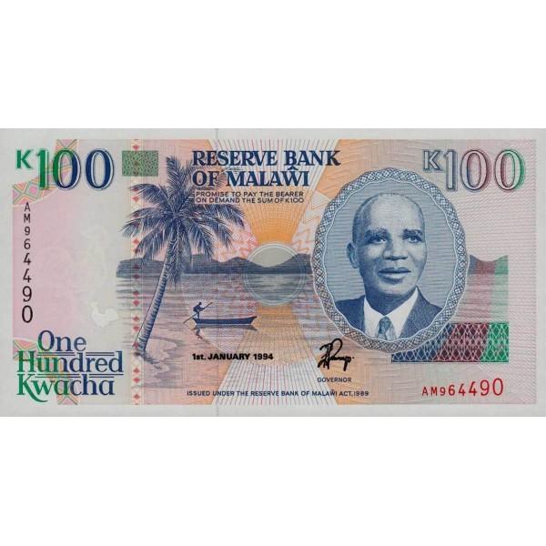 1994 - Malawi pic 29b billete de 100 Kwacha