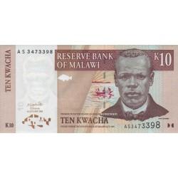 2003 - Malawi PIC 43a   10 Kwacha banknote