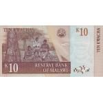 2003 - Malawi pic 43a  billete de 10 Kwacha