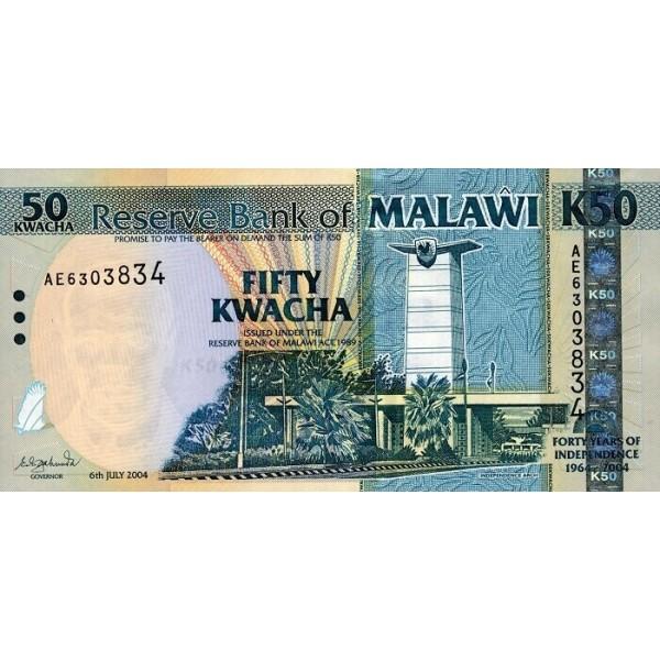 2004 - Malawi pic 49  billete de 50 Kwacha