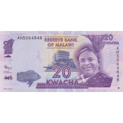 2012 - Malawi PIC 57a   20 Kwacha banknote