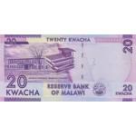 2012 - Malawi pic 57a billete de 20 Kwacha