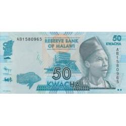 2012 - Malawi PIC 58a   50 Kwacha banknote