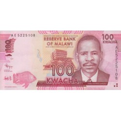2012 - Malawi PIC 59a   100 Kwacha banknote