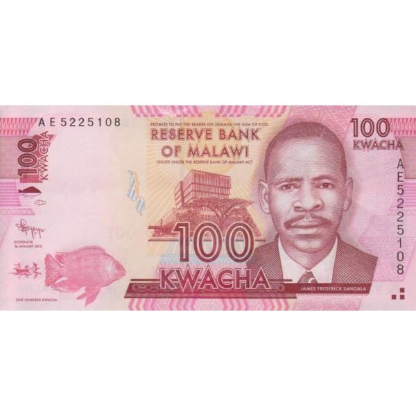 2012 - Malawi pic 59a billete de 100 Kwacha