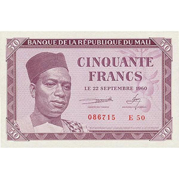 1960 - Mali  Pic  1     50 Francs  banknote