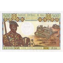 1984- Mali  Pic  12f     500 Francs  banknote