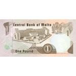 1979 - Malta  Pic 34b                 1 Pound banknote