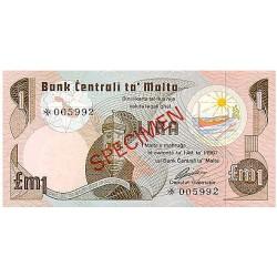 1979 - Malta  Pic CS1 34a                 1 Pound banknote