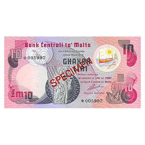 1979 - Malta  Pic CS1 36a                 10 Pounds banknote