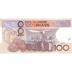 1987 - Morocco  Pic 65a 100 Dirhans  banknote