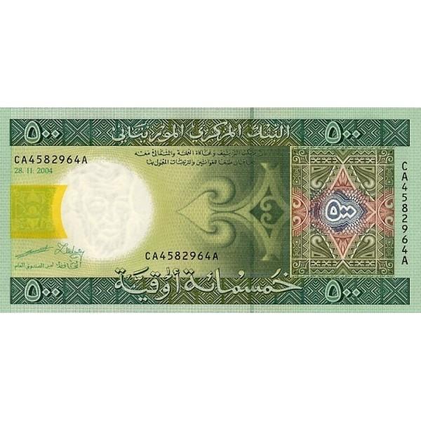 2004 - Mauritania  Pic  12a  500 Ouguiya banknote Specimen