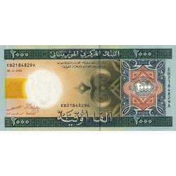 2004 - Mauritania  Pic  14a  2000 Ouguiya banknote Specimen