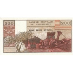 1973 - Mauritania  Pic  2s  200 Ouguiya banknote Specimen
