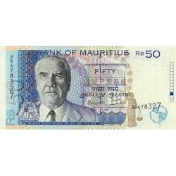 1973 - Mauritius Islands  Pic  31c  10 Rupias banknote