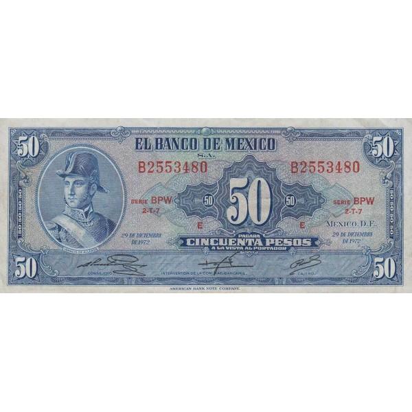 1972 - México P49u billete de 50 Pesos