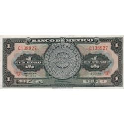 1959 - Mexico P59e 1 Peso  banknote