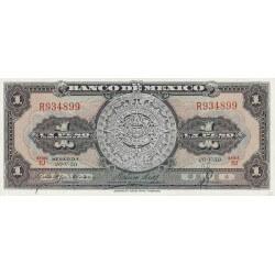 1959 - Mexico P59f 1 Peso  banknote