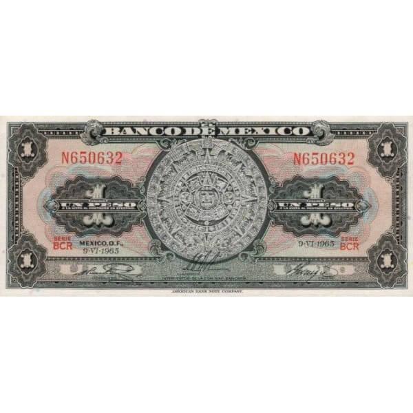 1970 - México P59i billete de 1 Peso