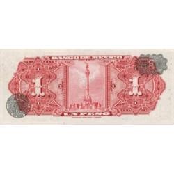 1970 - Mexico P59i 1 Peso banknote