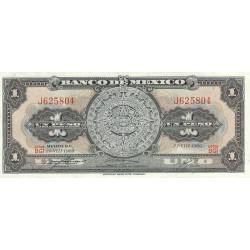 1969 - Mexico P59k 1 Peso  banknote