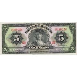1961 - Mexico P60g 5 Pesos banknote