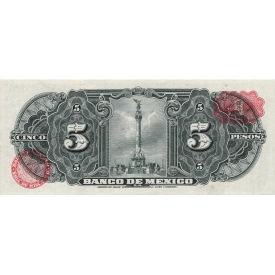1969 - Mexico P60j 5 Pesos banknote