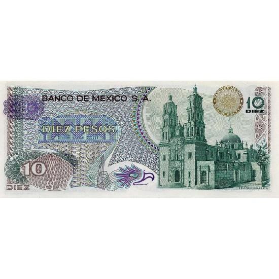 1977 - Mexico P63i 10 Pesos  banknote
