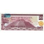 1977 - México P64d billete 20 Pesos