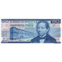 1973 - Mexico P65a 50 Pesos banknote