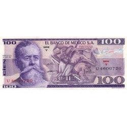 1974 - Mexico P66a 100 Pesos banknote