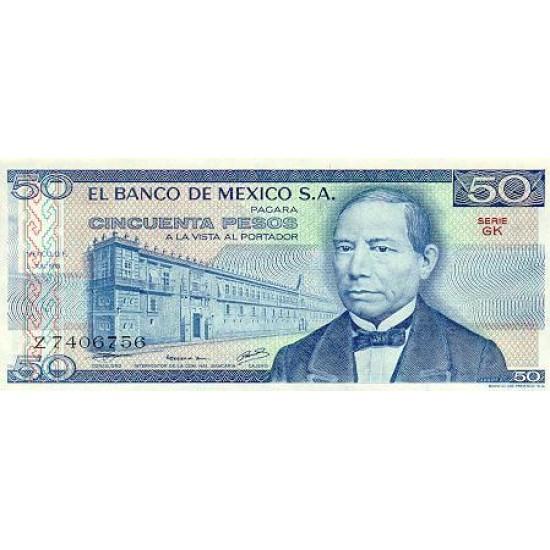 1979 - Mexico P67b 50 Pesos  banknote