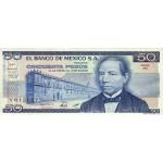 1981 - Mexico P73 50 Pesos  banknote