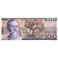 1981 - Mexico P74a 100 Pesos banknote