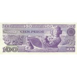 1982-  México P74c billete de 100 Pesos